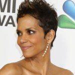 Halle Berry latest short spiked pixie haircut for black women