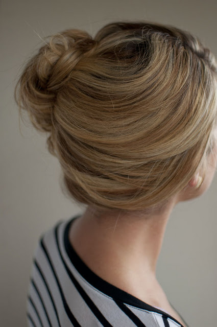 Simple Easy Updo For Summer Loose Side French Twist Updo