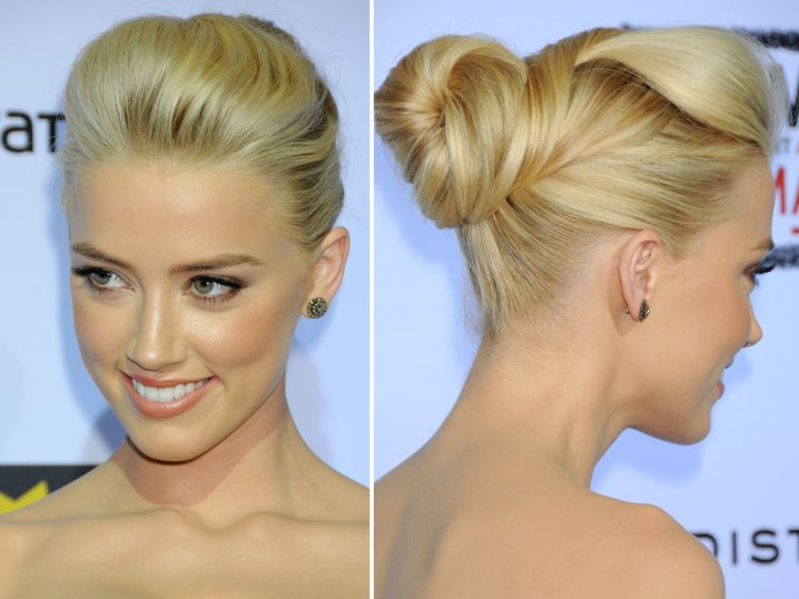 formal updos for women Amber Heard hairstyles