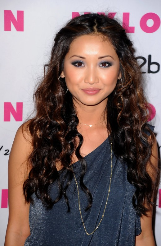 Defined Long Dark Waves With Copper Balayage Brenda Song