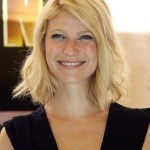 Long bob hair style with side swept bangs - Gwyneth Paltrow hairstyle