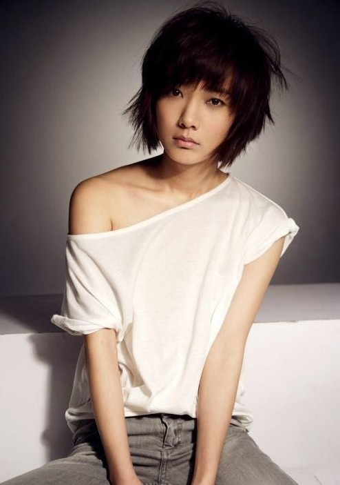 Cool Layered Short Messy Hairstyle for Thick Hair