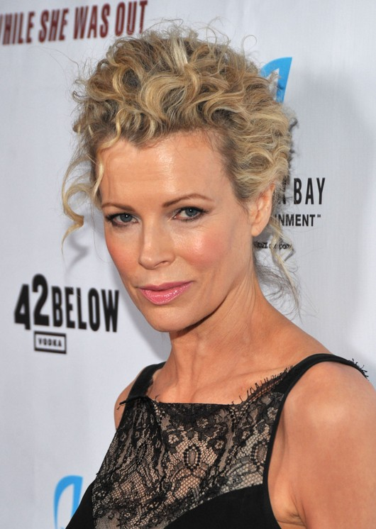 Short Messy Curly Updo for Women - Kim Basinger Hairstyles