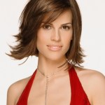 Hilary Swank's Short bob haircut with bangs