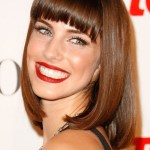 Lob - Sexy Long Bob Hairstyle with Blunt Bangs from Jessica Lowndes