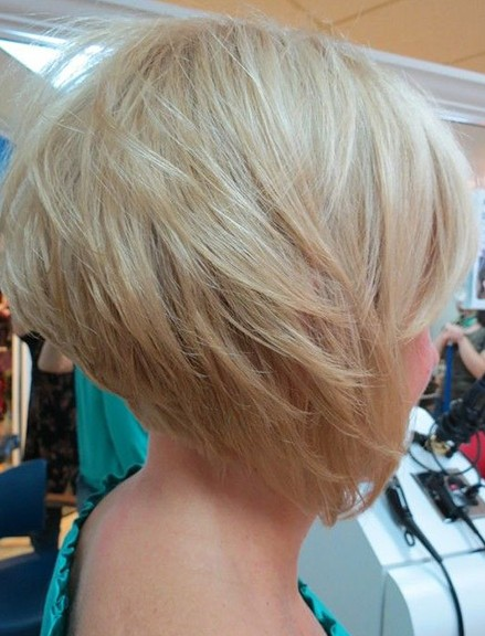 Side View of Graduated Bob