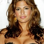 Long Brown Wavy Hairstyle for Women - Eva Mendes' Hairstyle