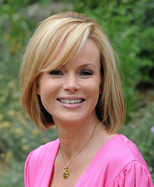 Cute Classic Bob Haircut with Long Bangs for Spring - Amanda Holden Hairstyles