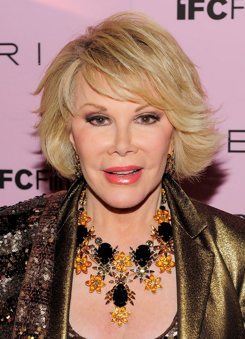 Joan Rivers Short Blonde Bob Hairstyle for Older Women Over 60