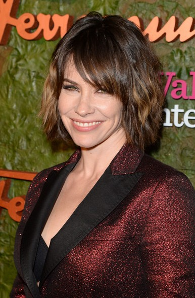 Evangeline Lilly Short Haircut  - Bob Hairstyle with Bangs