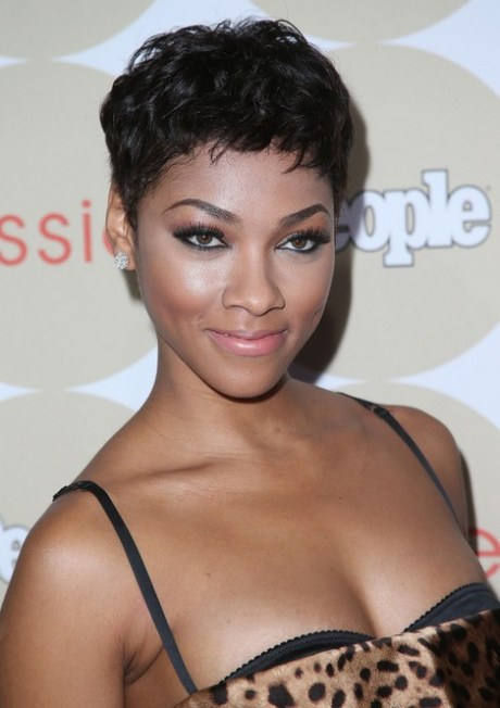 Bria Murphy Short Haircut  - African American Hairstyle for Black Women