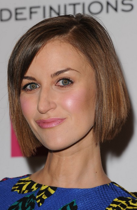 Katherine Kelly Short Haircut for 2015 - Classic Straight Bob Hairstyle