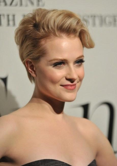 Updo for Short Hair - Evan Rachel Wood Short Blonde Updo
