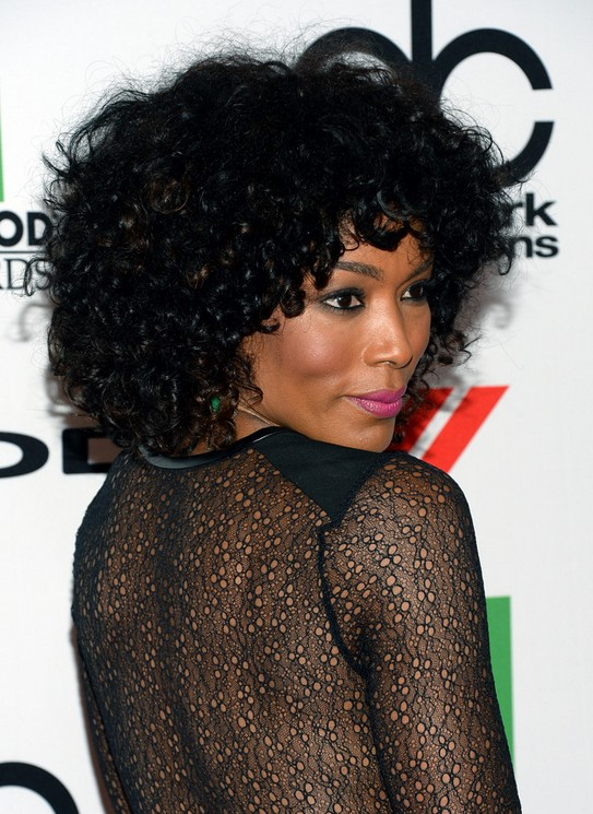 Angela Bassett Black Curly Hairstyle for 2014
