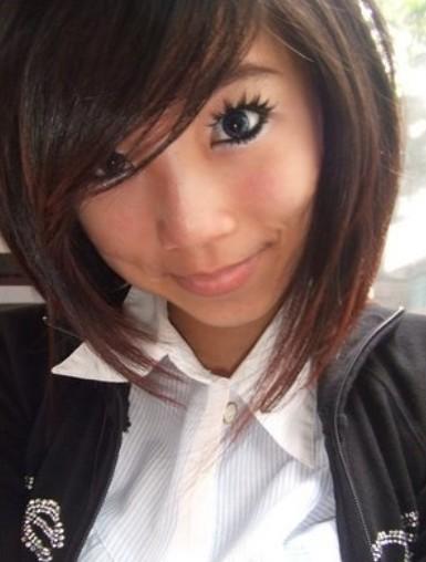 Asian Bob Hairstyle 2014 - Cute Short Haircut for Girls