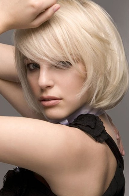 Bob Hairstyles 2014 - Fabulous Short Soft Bob Haircut with Side Swept Bangs
