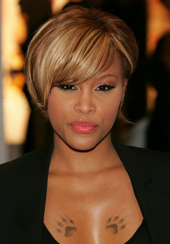 Short Sleek Hairstyle for Black Women - Celebrity Eve's Hairstyle