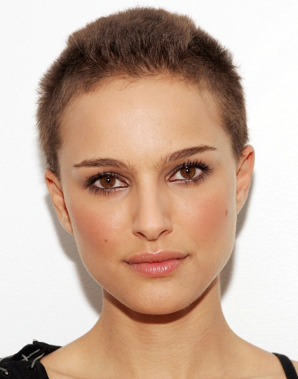 Natalie Portman hairstyle - very short buzz cut for women