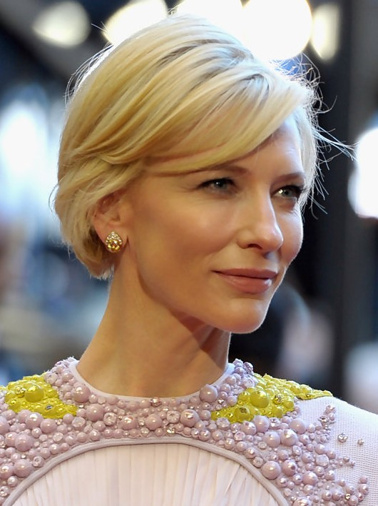 Cate Blanchett Short Haircut - Short Straight Hairstyle with Bangs