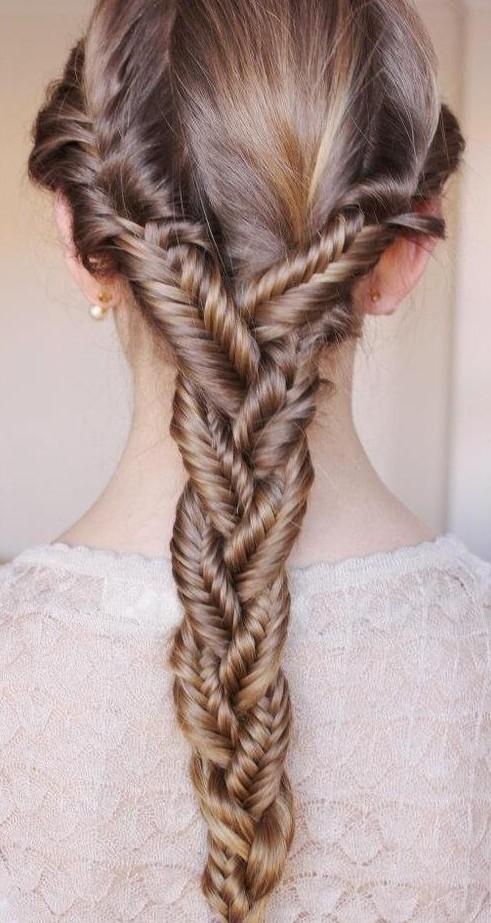 fishtail braid for girls /tumblr