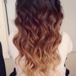 Brown Ombre Hair: Brown to Blonde Wavy Dip-Dye Cascade