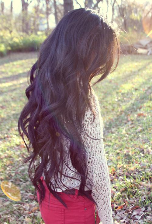 Long Wavy Hair Style - Dark Hairstyle for Women tumblr