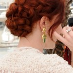 Braided Updo Rich Red Braid Chignon Hairstyle