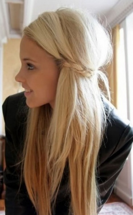 Cute Braided Long Hairstyle for Girls