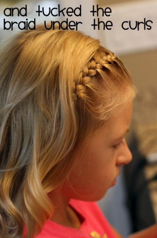 Cute braided long blonde hair for girls