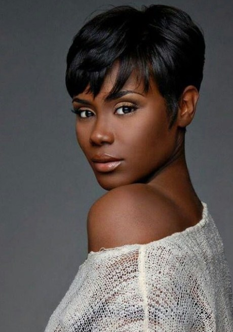 Short Black Hairstyle with Bangs
