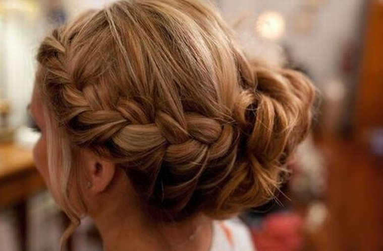 Side View of Braided Wedding Hairstyles 2014