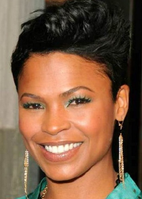 Spiked Short Black Hairstyle