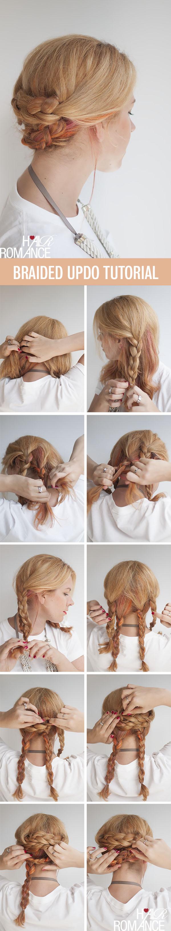 Braid Hair Tutorial: Simple Easy Braided Updo Hair