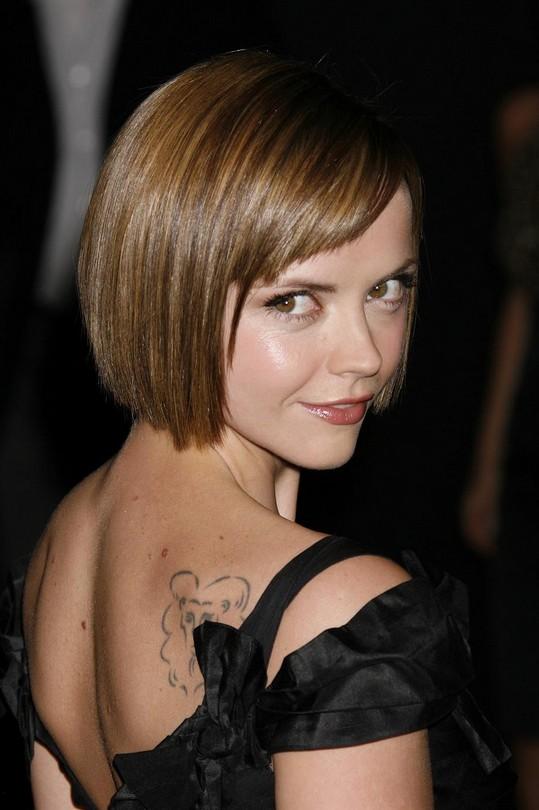 Christina Ricci Short Haircut for Round Faces