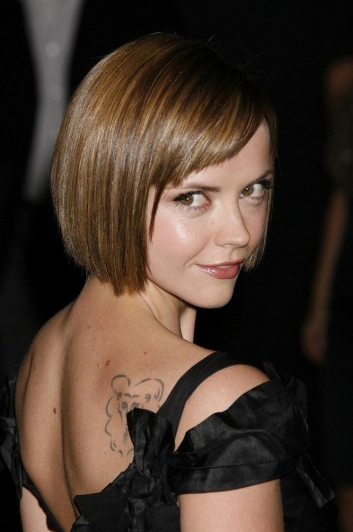 Christina Ricci Short Haircut for Round Faces
