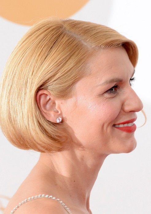 Claire Danes Short blonde bob hairstyle