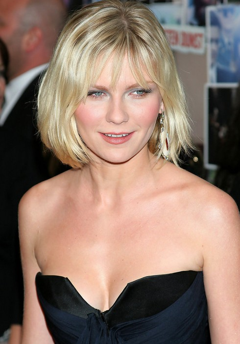 Short Haircut for Round Face Shapes - Kirsten Dunst Short Bob Cut