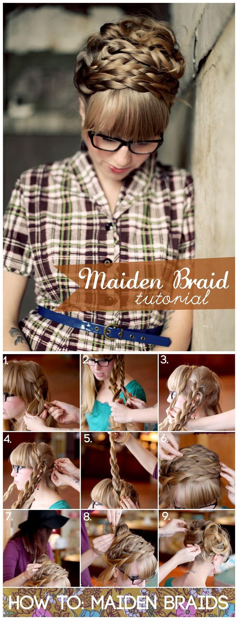 Hair Tutorial: Super Cute Maiden Braids