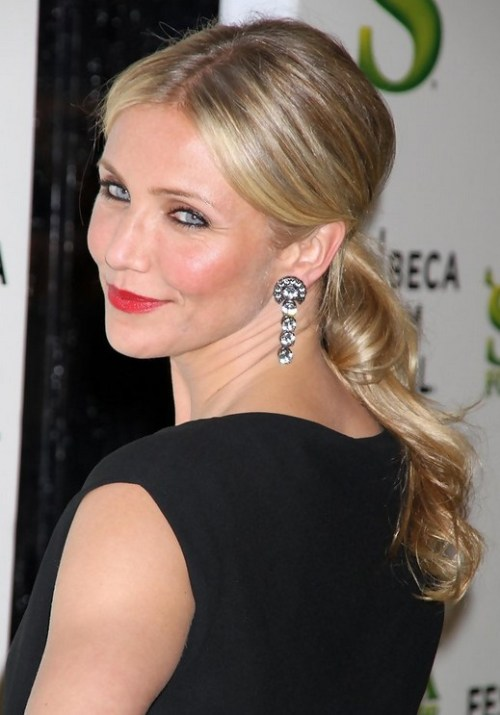 Cameron Diaz Long Hairstyle - Ponytail