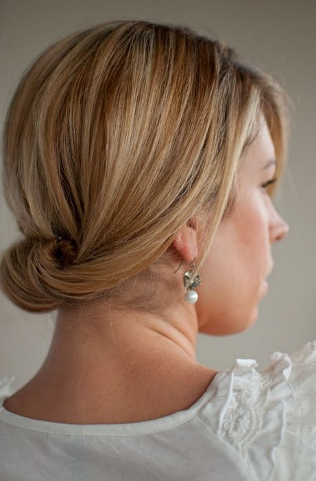 Classic Sleek Updo for Dating