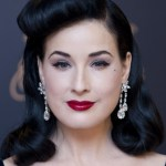 Dita Von Teese Long Black Retro Hairstyle