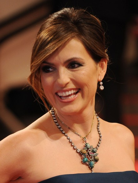 Hair Color Ideas 2014 - 2015 Mariska Hargitay Twisted Bun