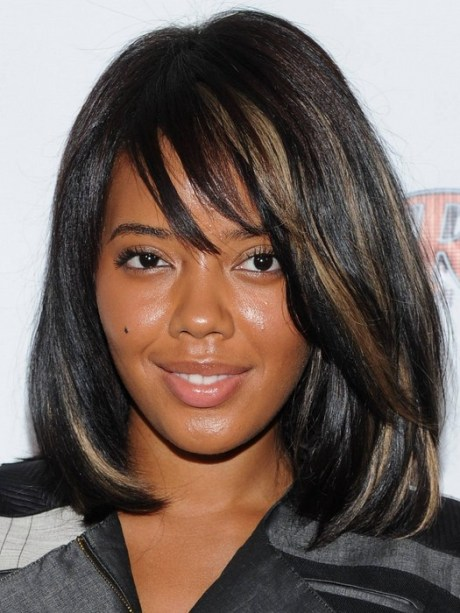 Layered Black Haircuts with Highlights