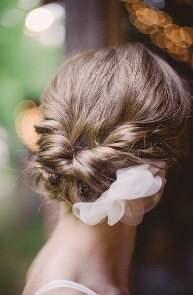 Low Chignon Updo for Wedding
