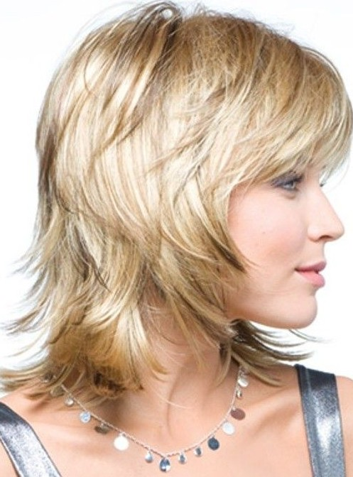 Medium Layered Haircut for Women Over 40