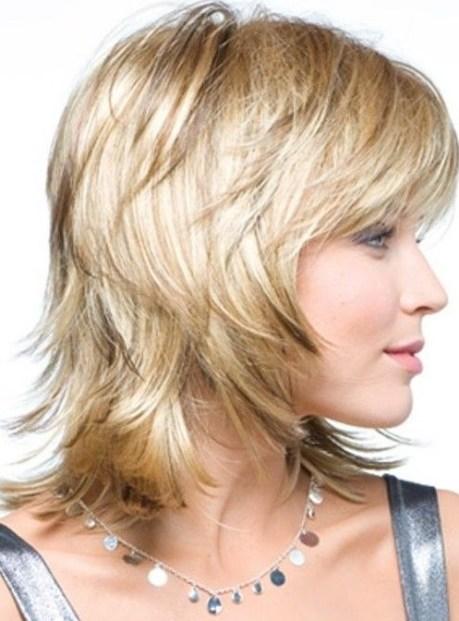 Medium Layered Haircut for Women Over 40