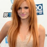Bella Thorne Long Straight Hairstyle with Bangs for Thick Hair