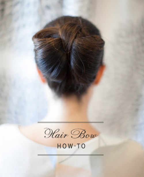 DIY Wedding Hairstyles: The Hair Bow for Wedding
