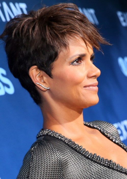 Tousled Pixie Cut for Black Women - Halle Berry Short Haircut