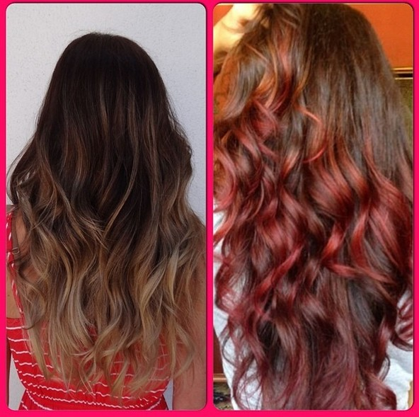 Red Curly Hairstyles for Long Hair